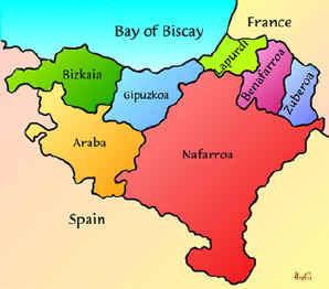 Guipúzcoa Mapa Ciudad de la Región