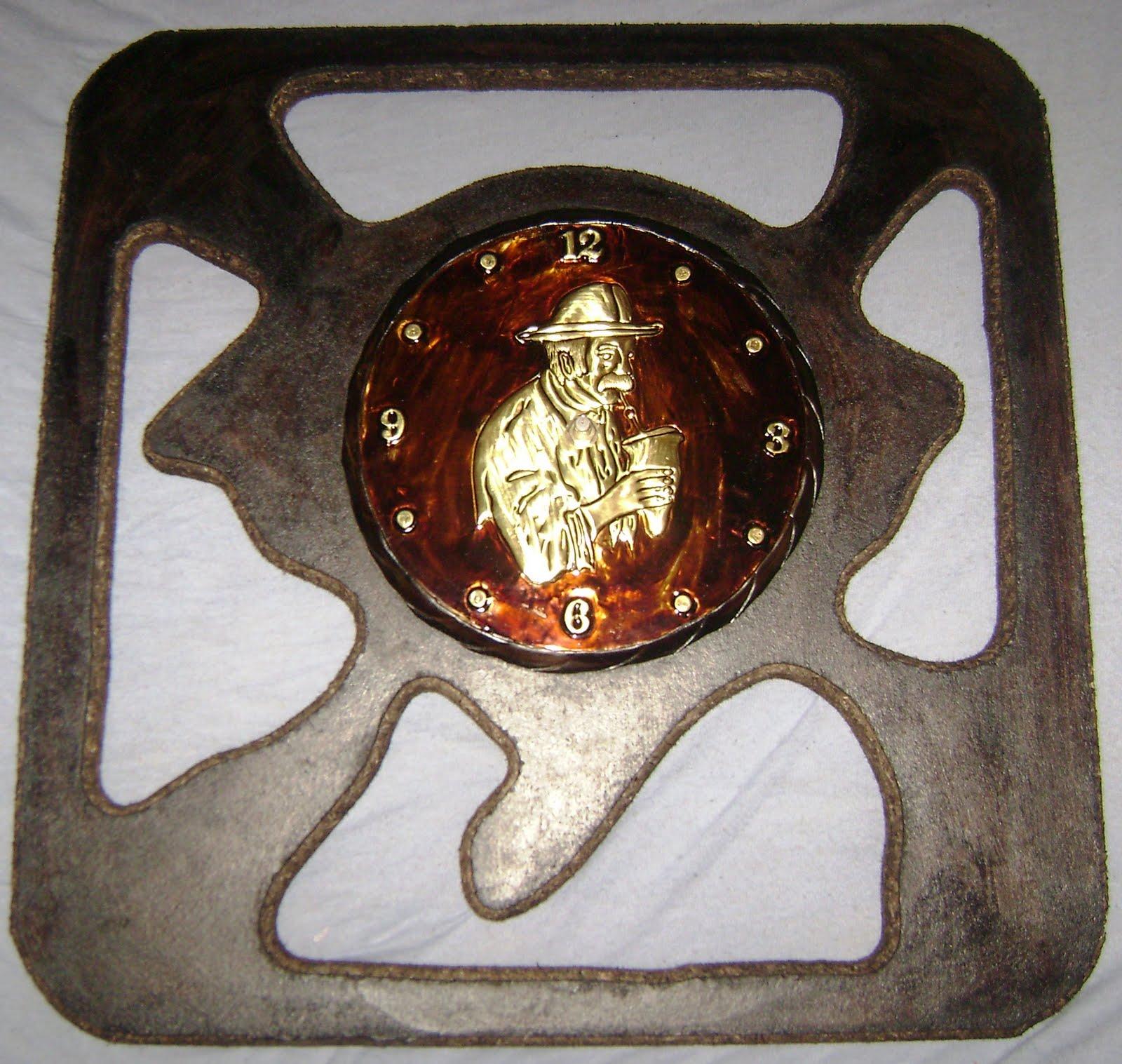Aparador Pelos Masculino ~ Julio Velasques Artesanato Gaúcho relógio rs vazado c detalhe em cobre med aprox 65cm
