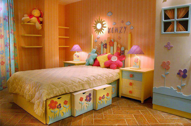 Dise o de dormitorios infantiles para ni as dise o y for Disenos de paredes para dormitorios