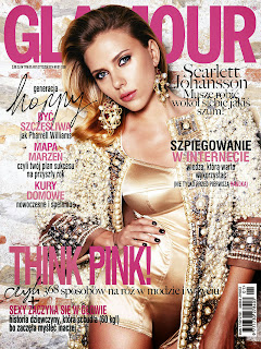 Magazine Cover : Scarlett Johansson Magazine Photoshoot Pics on Glamour Magazine Poland January 2014 Issue