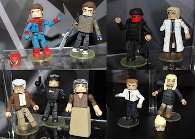 The Amazing Spider-Man Movie Minimates Series - Spider-Man, Peter Parker with Skateboard, Mystery Criminal, Dr. Curt Connors, Uncle Ben, Police Officer, Aunt May, Captain George Stacy & Gwin Stacy