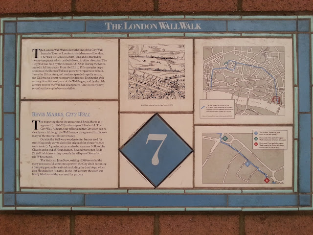 The London Wall Walk - Plaque 7