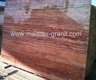 Marmer Murah Red Travertine