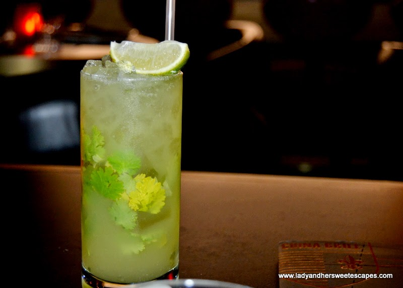 mocktail at China Grill Dubai