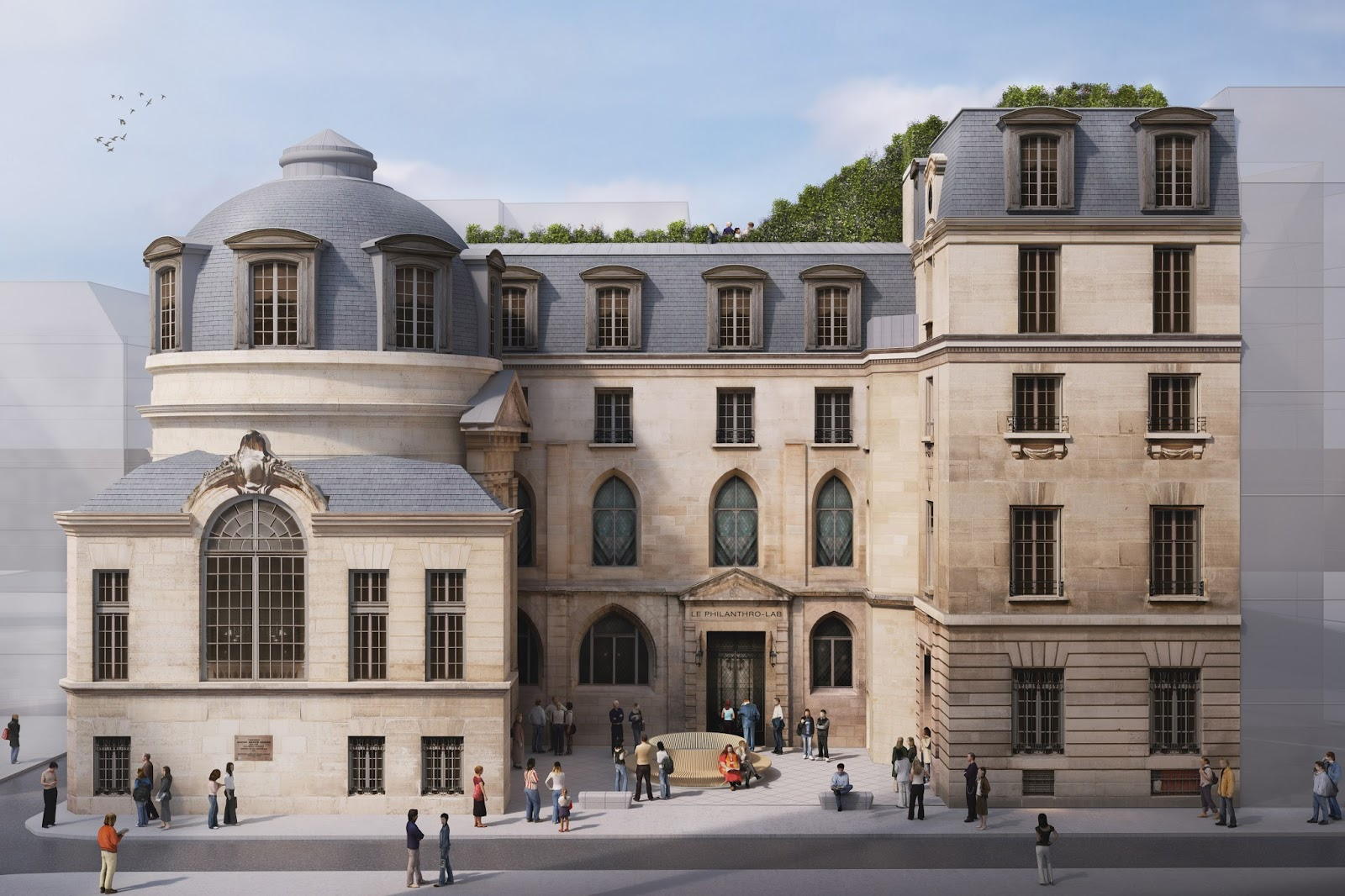 Laureat du concours r inventer paris pour l 39 h tel de la - Hotel particulier paris bismut architecture ...