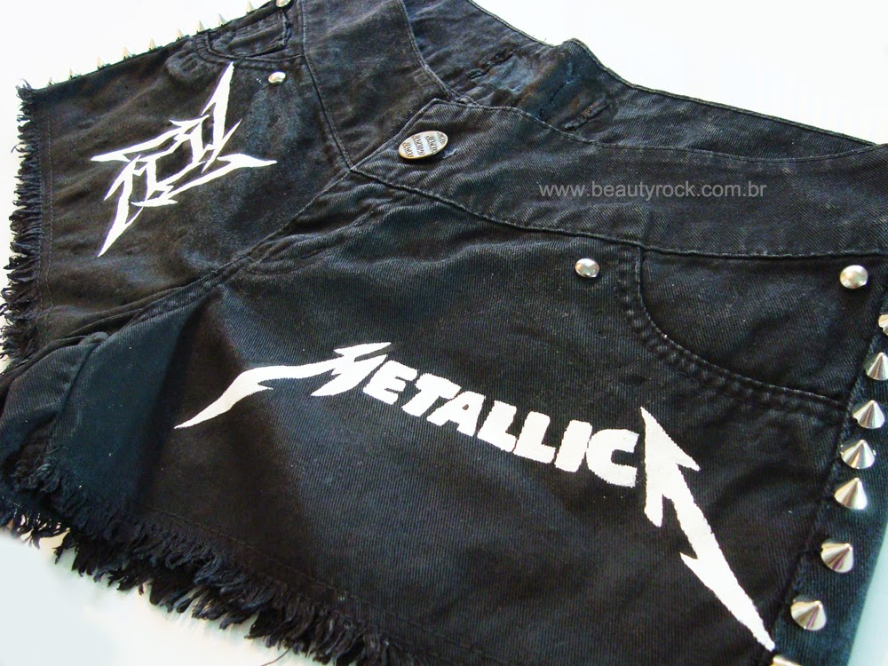 DIY: Short Customizado - Metallica e spikes