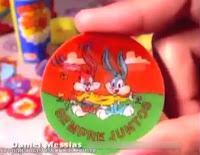 Tazo da Elma Chips. Coleção Animaniacs, 1997. Colecionáveis de sucesso entre as crianças.