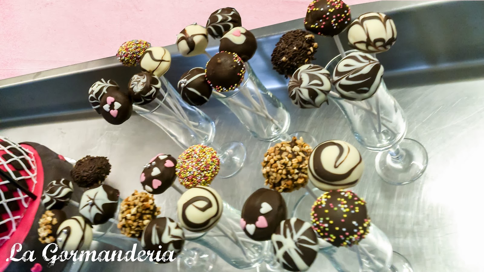 Pop Cakes de chocolate