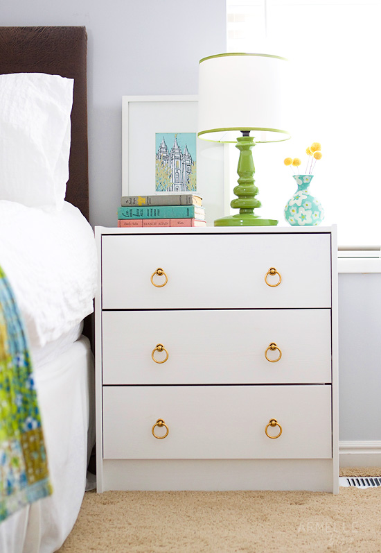 Ikea Dresser Drawers Fall Out ~ rast painted white, pulls changed out for brass hardware click over