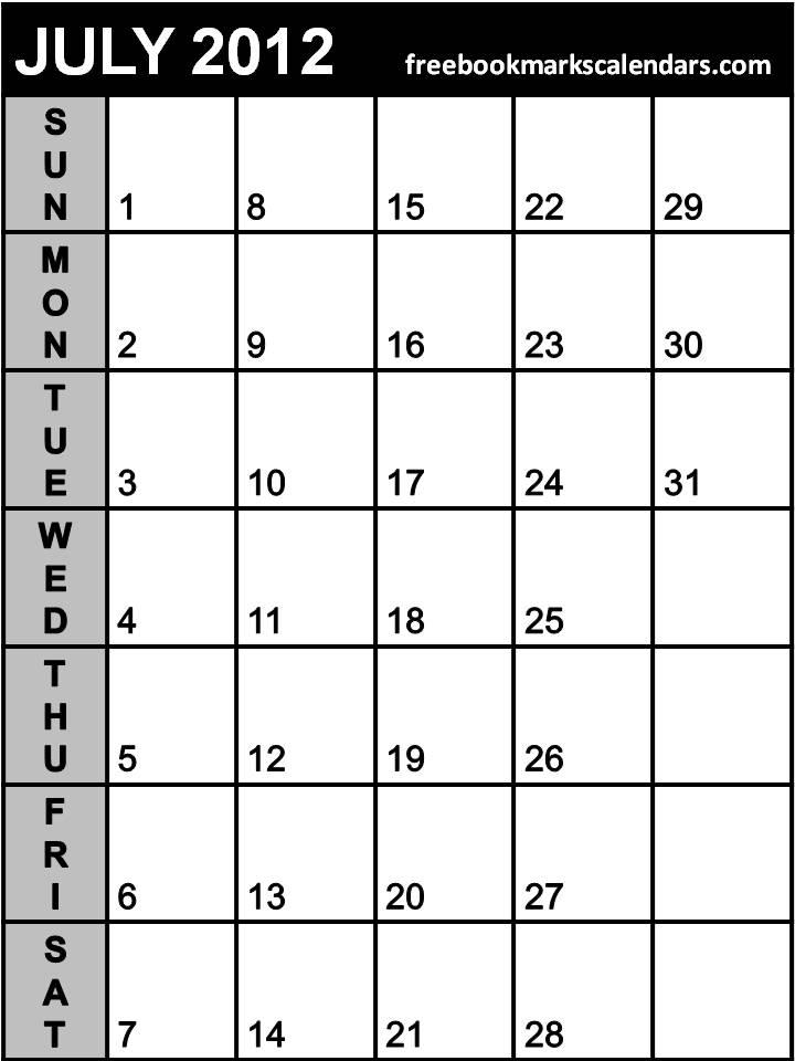 Blank February 2014 Calendar Printable