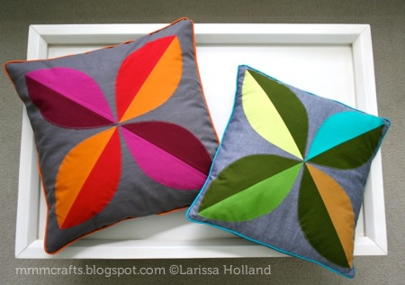How To Make Cushion Cover Design: mmmcrafts  make a four leaf pillow cover with piping!,