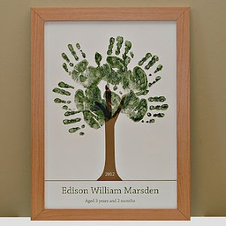 Handprint Tree in a Frame Gift