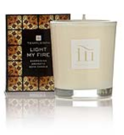 Temple spa candle