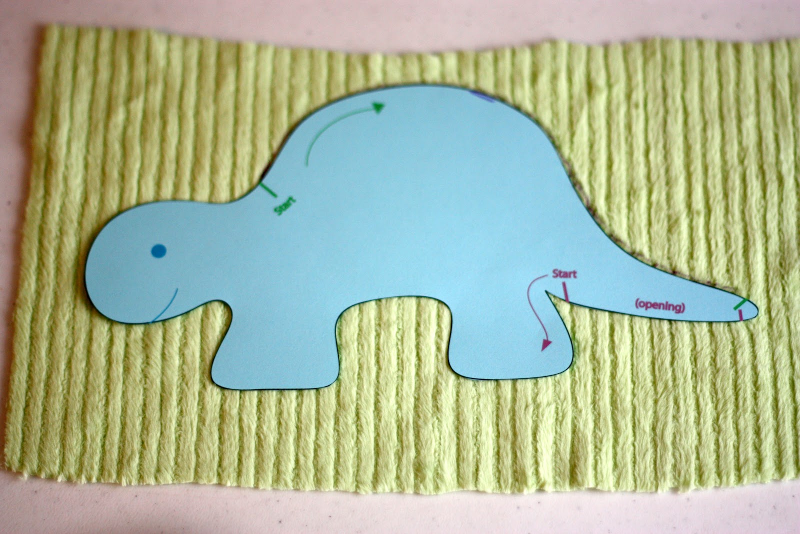Dale The Diplodocus Plushie Sewing Pattern Soft Toy Dinosaur Instant