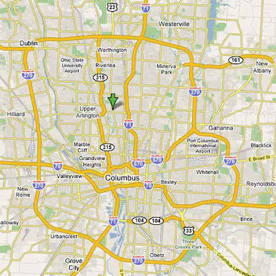 Map of Columbus Ohio