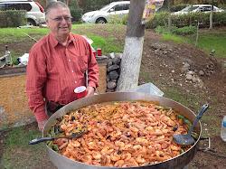 Comida en el rancho de Alberto Camberos, Texcoco, Edo. Mex. Sábado 21 de julio de 2012