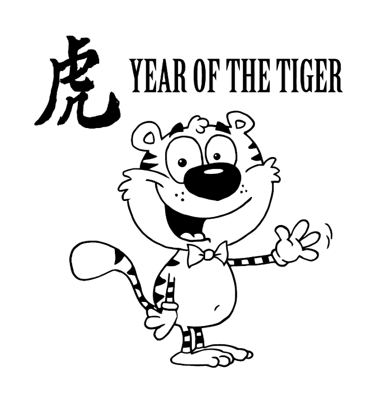 Chinese New Year Tiger Coloring Pages title=