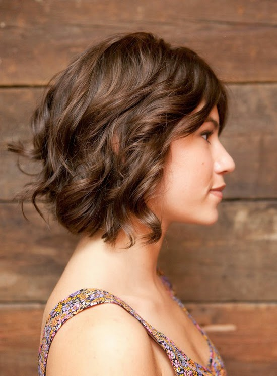 Short Layered Bob for Wavy Hair