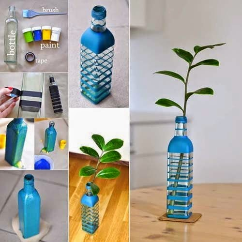 low cost creative idea for home decoration bottle pot made from