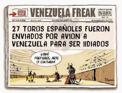 press art cómic corridas de toros San Cristóbal Venezuela