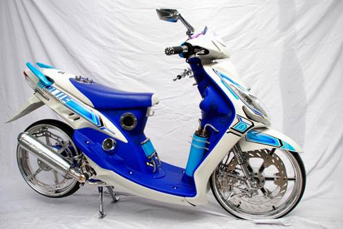 modifikasi motor mio gt 115  paling bagus