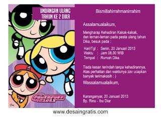 ... 'share' contoh kartu undangan ulang tahun anak, silahkan dilihat