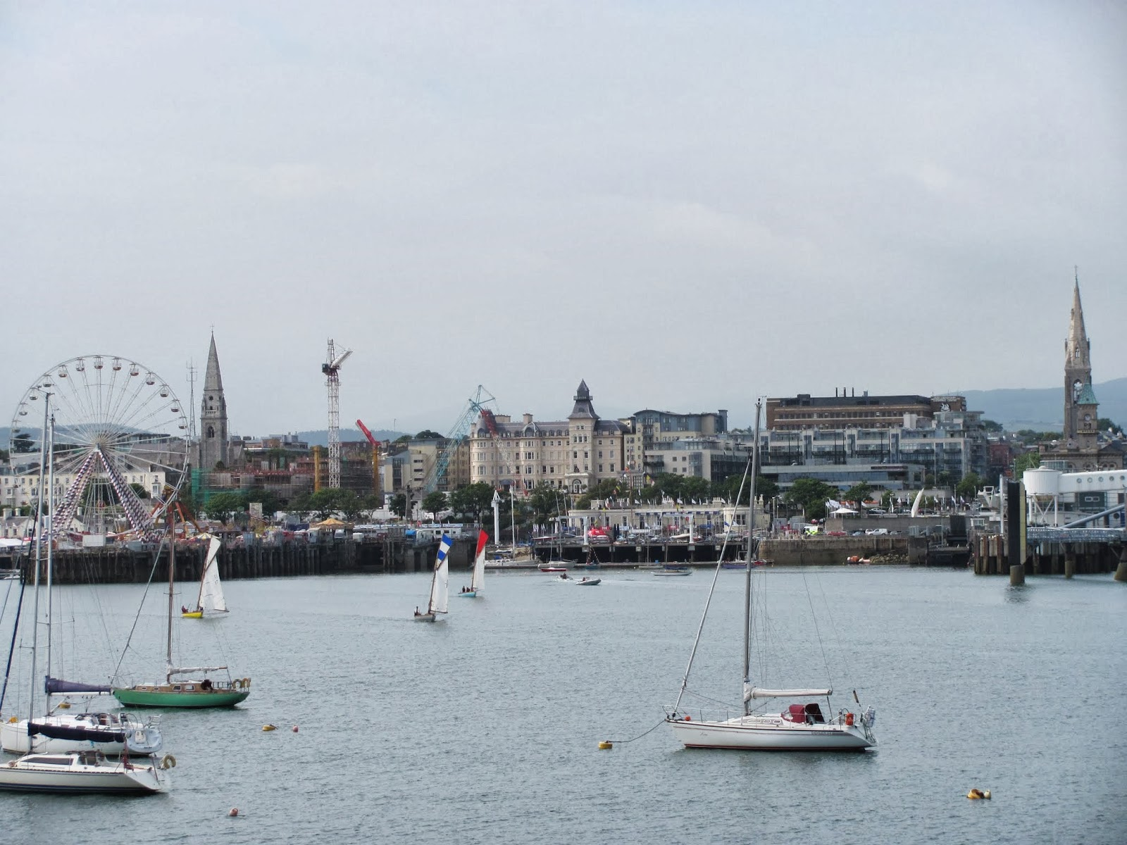 The carnival is in town and the village is seen in Dun Laoghaire, Co. Dublin, Ireland