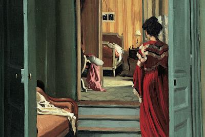 Félix Vallotton - Intérieur avec femme en rouge de dos,1903.