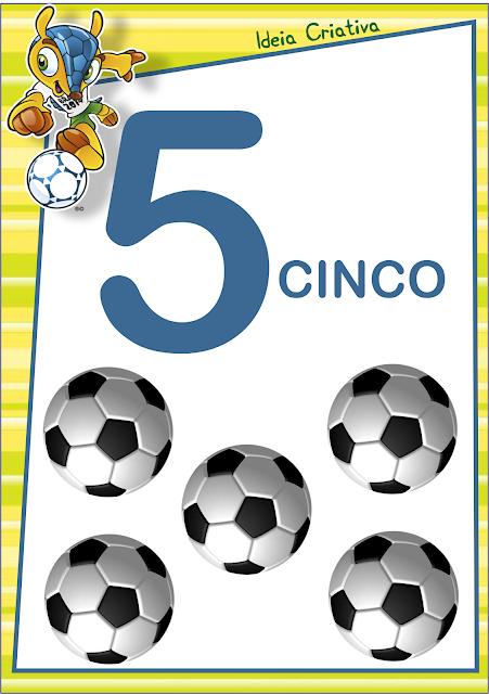 Numerais de Parede Copa do Mundo para imprimir grátis