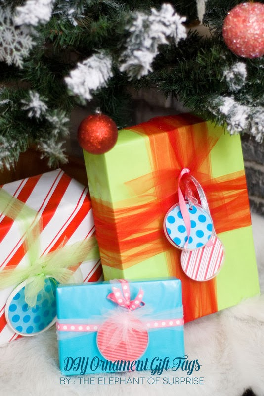 The Party Hop: Handmade Holiday DIY ornament gift tags