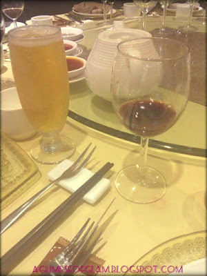 red wine and beer