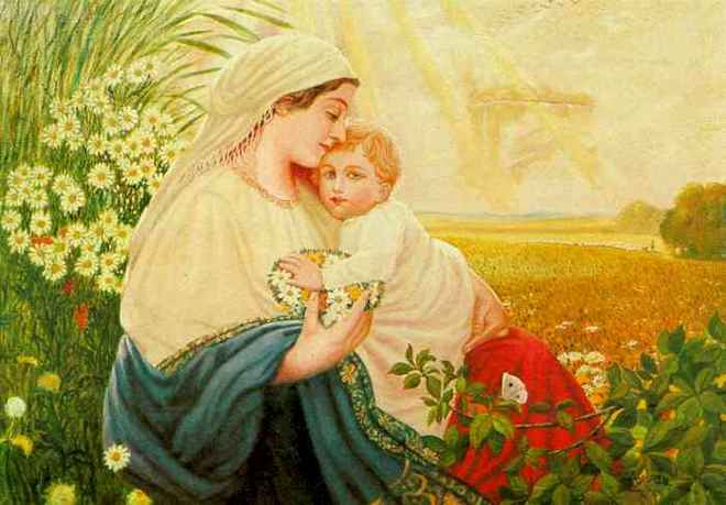 Hitler's Mary with baby Jesus, Sun of god