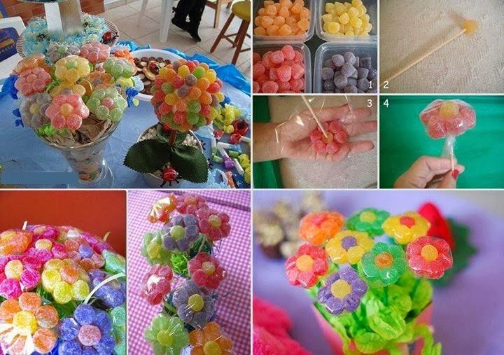 Fiori di caramelle la casa delle idee for Casa di caramelle