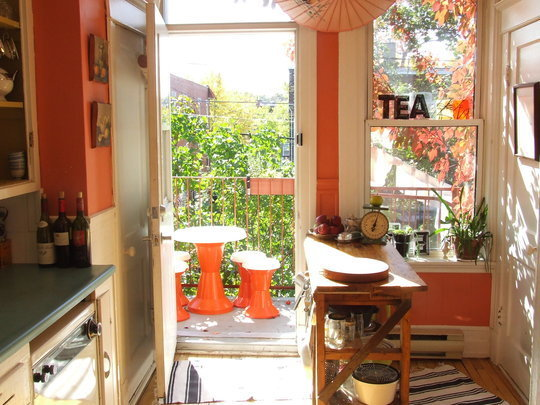 kitchen here are some pictuers of coral colors kitchen interior design