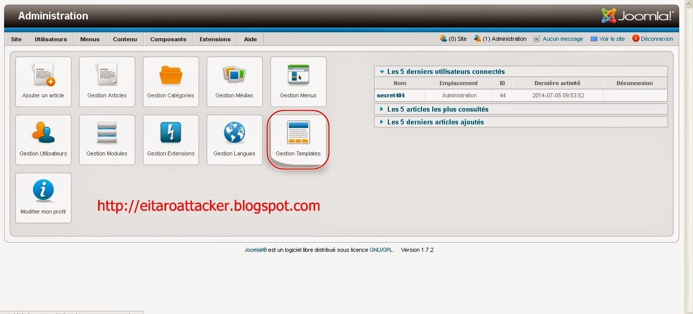 Cara Tanam Shell Backdoor di Web Joomla - Skay Blogs