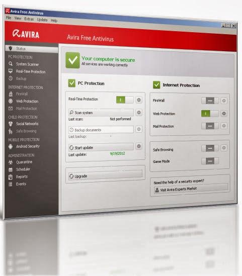 تحميل برنامج افيرا انتي فيرس للحماية من الفيروسات أخر تحديث مجاناً 2014-Avira Free Antivirus-14.0.0.381