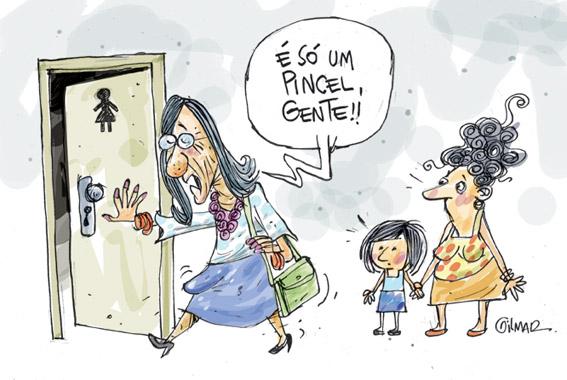 Laerte e o banheiro feminino -> Laerte Banheiro Feminino