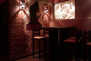 Рок Бар RockIT - долно ниво бар светещи декорации