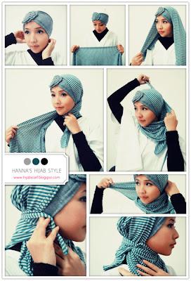 Cara Memakai Hijab Scraft