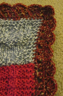close up of the border for oddball blanket