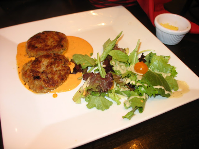 Eggplant Cakes from Tomato Cafe in Fishkill, NY