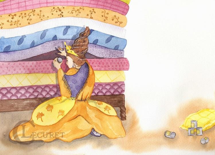 Les devoirs d 39 aquarl la princesse au petit pois - Les bronzes bonsoir nous allons nous coucher ...