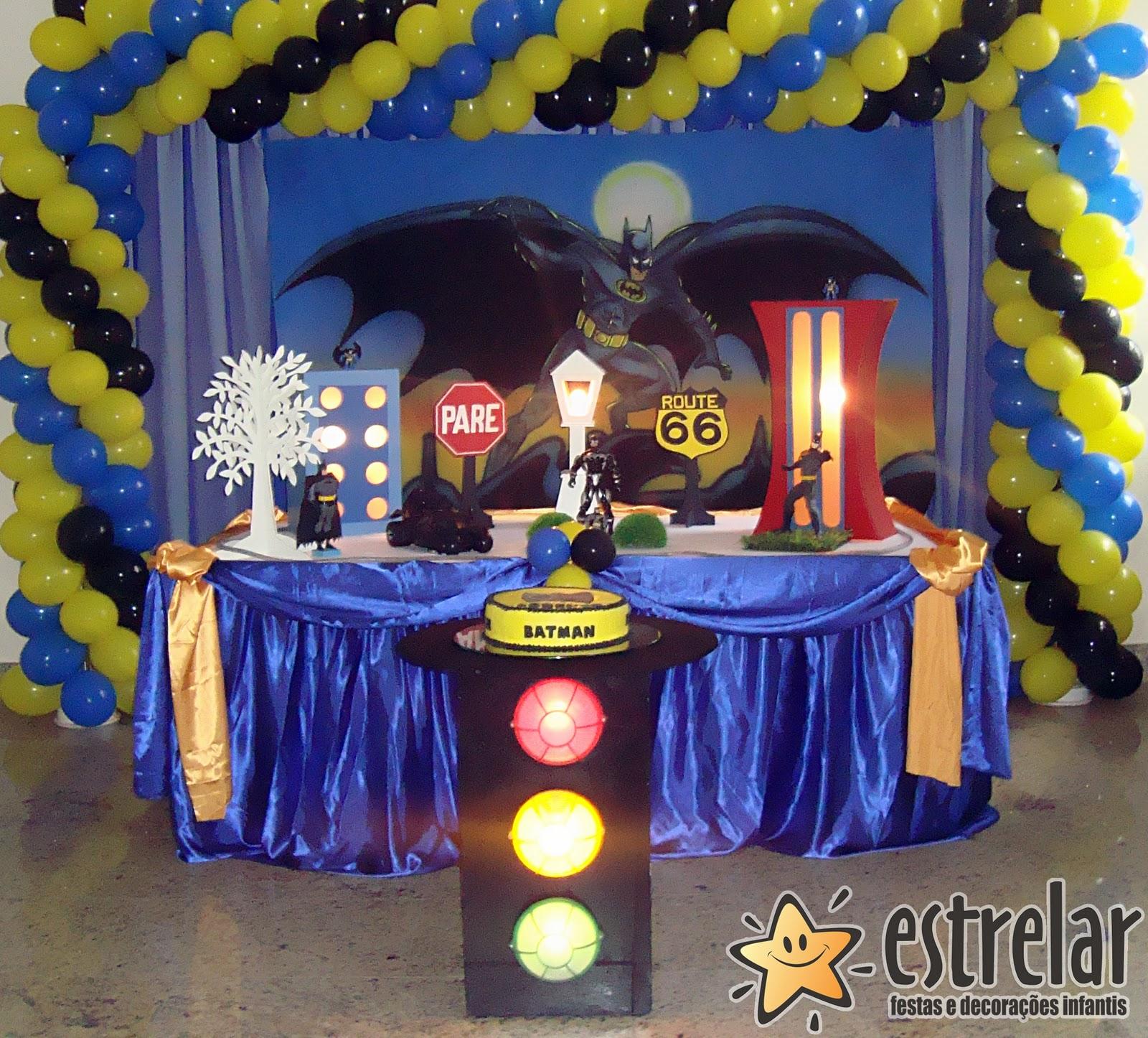 decoracao festa batman:Estrelar Festas: Decoração do Batman