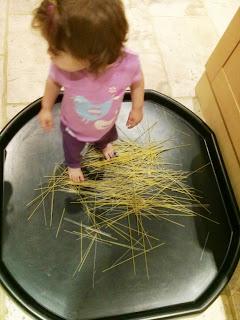 standing on spaghetti