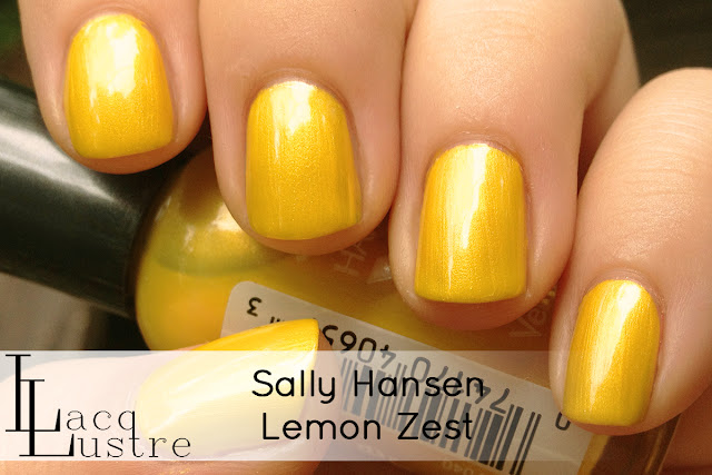 Sally Hansen Lemon Zest swatch