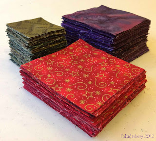 Red, Green, Purple Qult Fabric