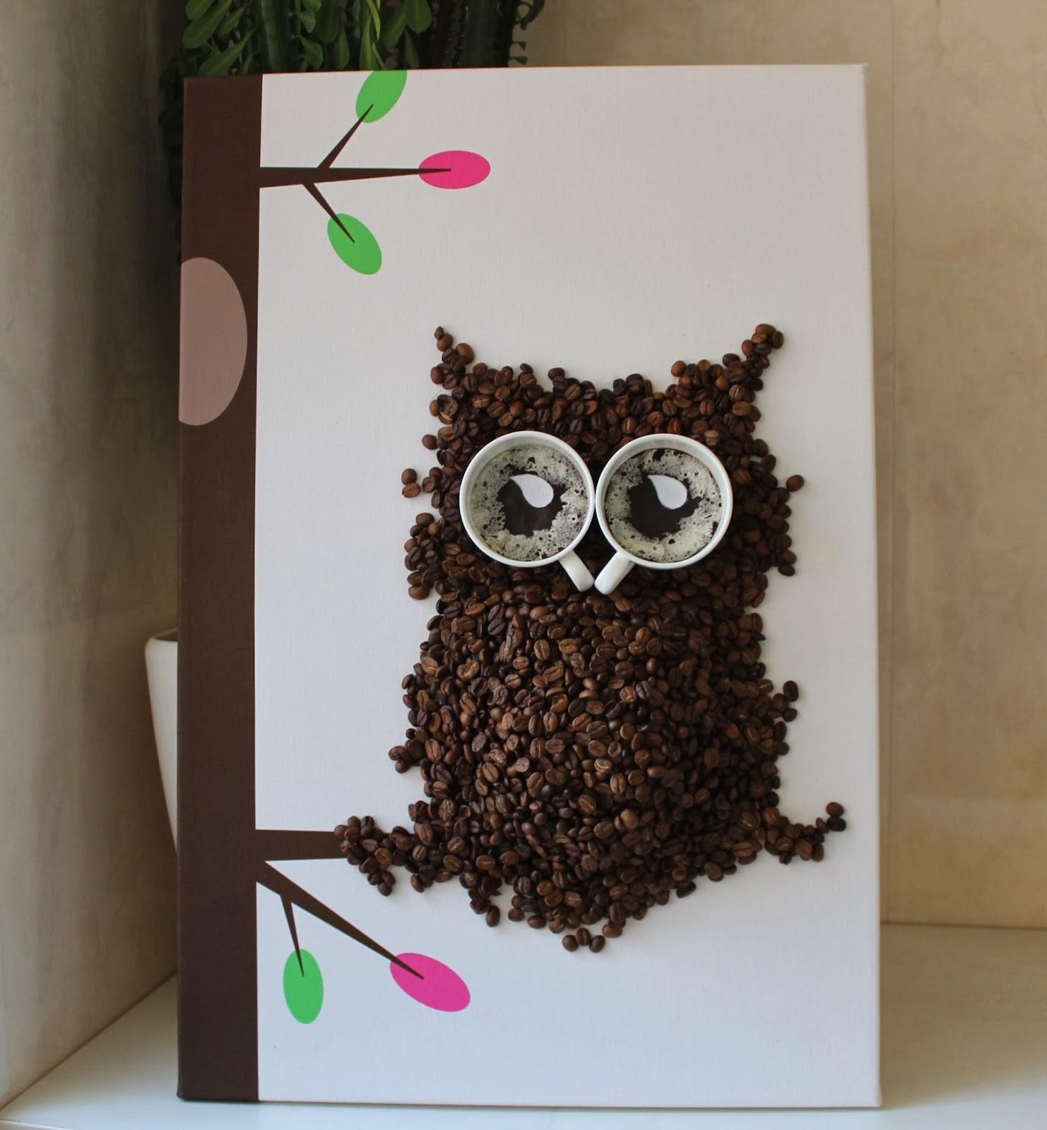 Поделки для детей из кофейных зерен 54