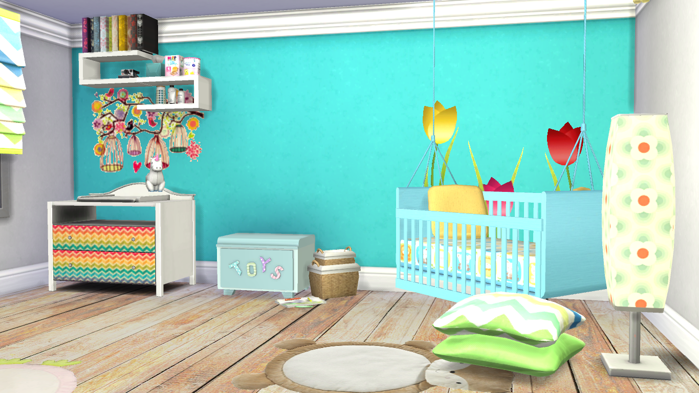 Thesimsandthesimmers habitaci n para bebe l los sims 4 for Muebles sims 3