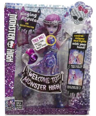TOYS : JUGUETES - MONSTER HIGH  Welcome To Monster High - Singing PopStar  Ari Hauntington | Muñeca - Doll  Mattel 2016 | Nueva Película | A partir de 6 años  Comprar en Amazon España & buy Amazon USA