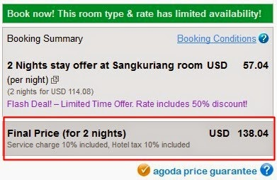 Cara booking hotel di Agoda - exnim